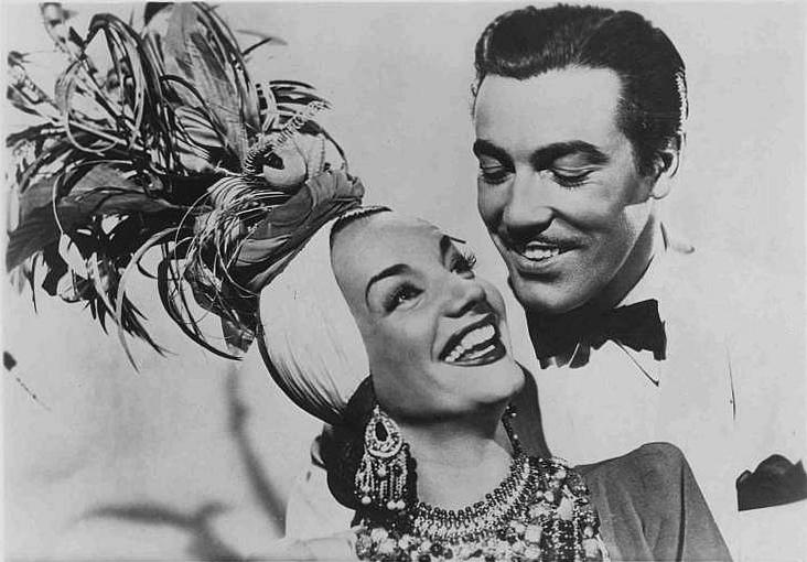 Carmen Miranda and Cesar Romero