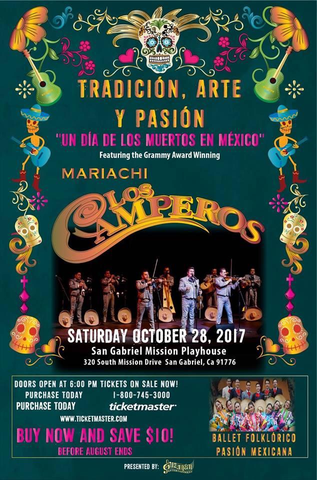 October 28 Mariachi Los Camperos at San Gabriel Mission Playhouse