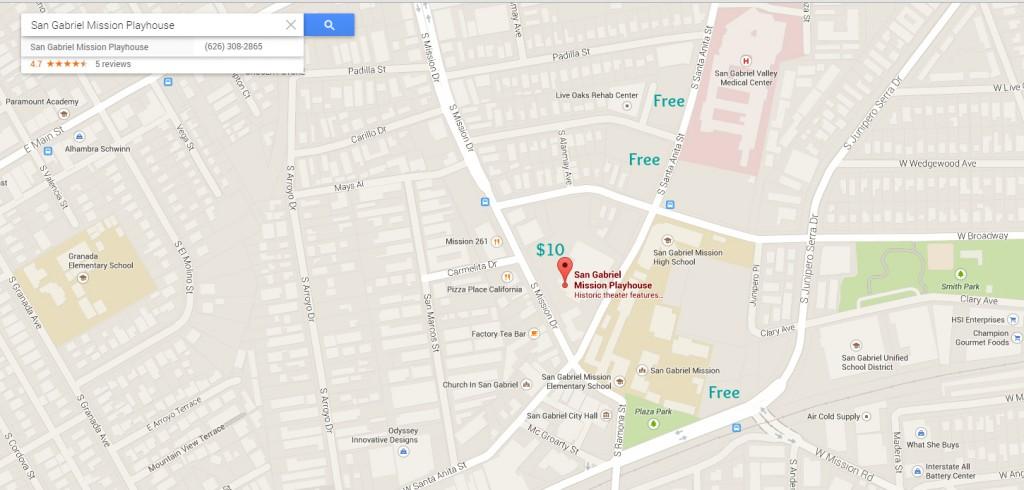 San Gabriel Mission Playhouse Map Edited