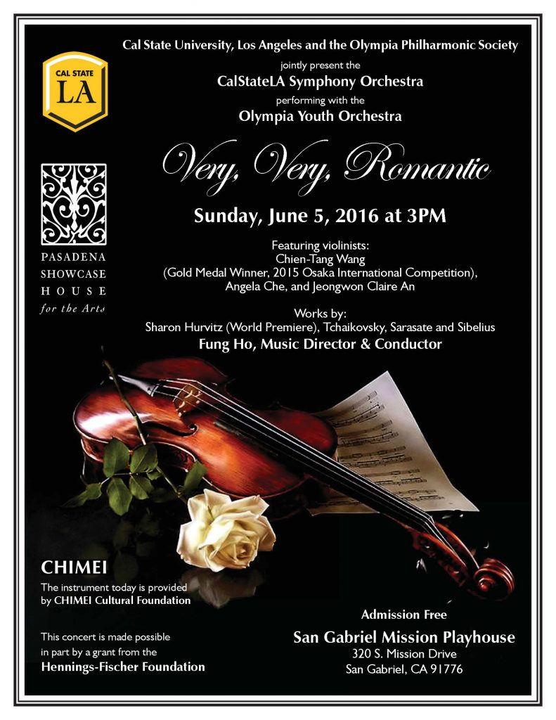CalStateLA Symphony Orchestra Olympia Youth Orchestra June 2016