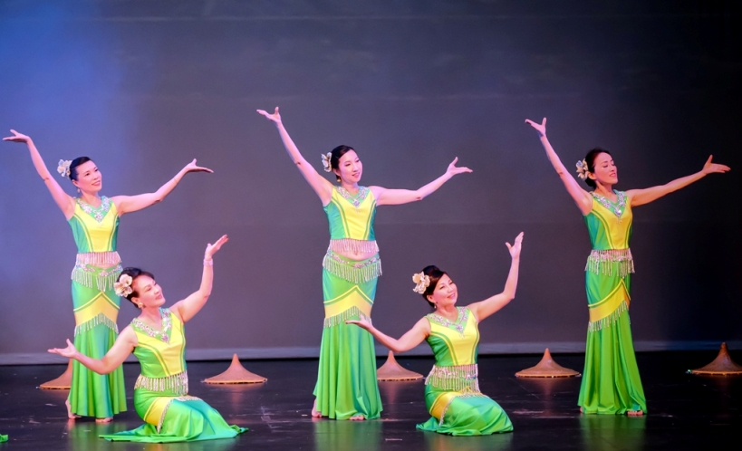 Chinese American Dancing Group at the San Gabriel Mission Playhouse