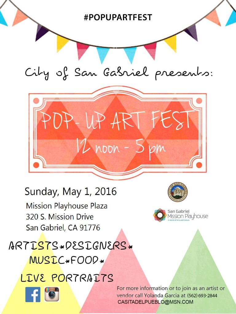 Pop Up Art Fest San Gabriel Mission Playhouse
